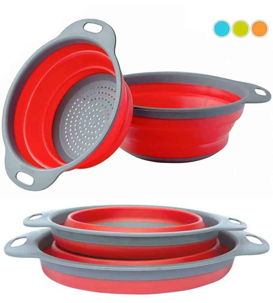 Collapsible Colanders | 10 Must-Have Items for your RV Kitchen