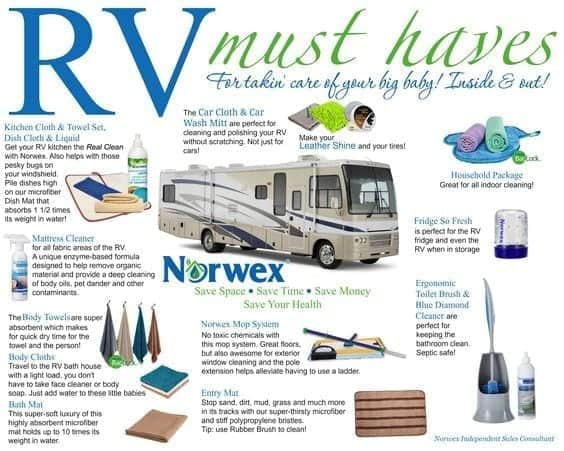Norwex | 10 Must-Have Items for your RV Kitchen | www.streetswander.com