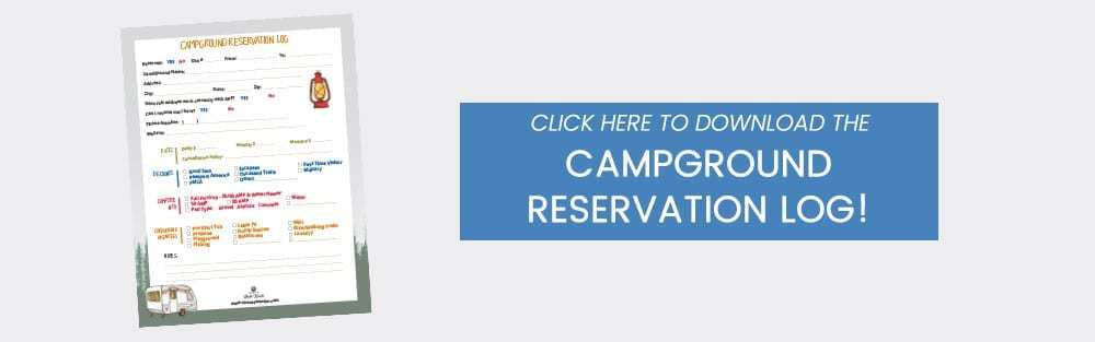 Campground Reservation Log | www.streetswander.com