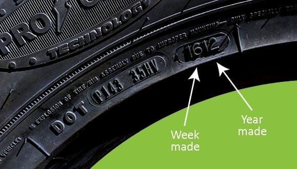 Tire Date code Image