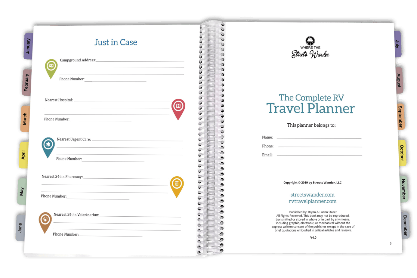 Inside RV Travel Planner Just in Case