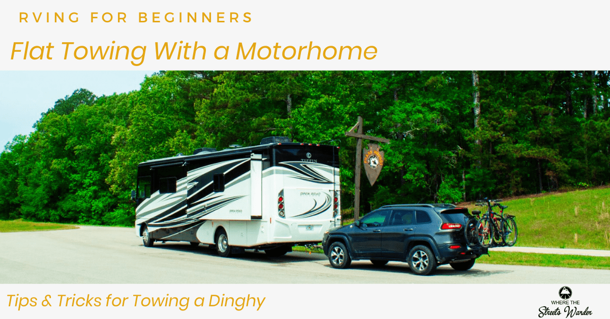 Flat Towing With A Motorhome | Find out how to get started flat towing behind your motorhome. | www.streetswander.com