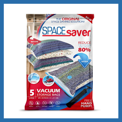 Space Saver Bags - 10 Must Have Items for Your RV Bedroom | Items for your RV Bedroom that will make you feel more at home! | www.streetswander.com