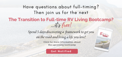 Transition to Full-time RV Living Bootcamp Registration